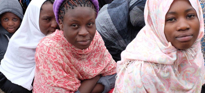 Des migrants dans un centre de détention en Libye. Photo OIM/2017