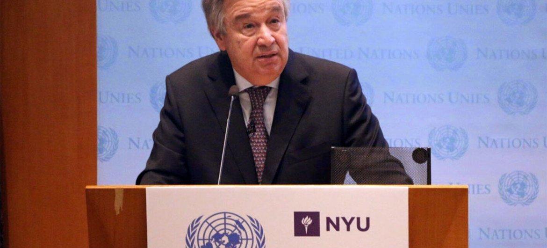 António Guterres en la Escual de Negocios Stern de la Universidad de Nueva York. Foto: Florencia Soto Nino