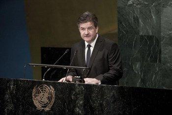 El presidente electo de la Asamblea General, Miroslav Lajcák, de Eslovaquia. Foto: ONU/Miroslav Lajcák