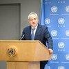 O porta-voz do secretário-geral da ONU, Stephane Dujarric.