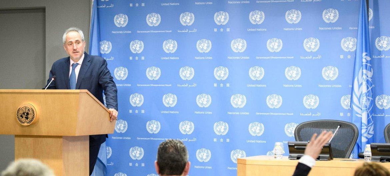 El portavoz de la ONU, Stéphane Dujarric. Foto: ONU/Manuel Elías