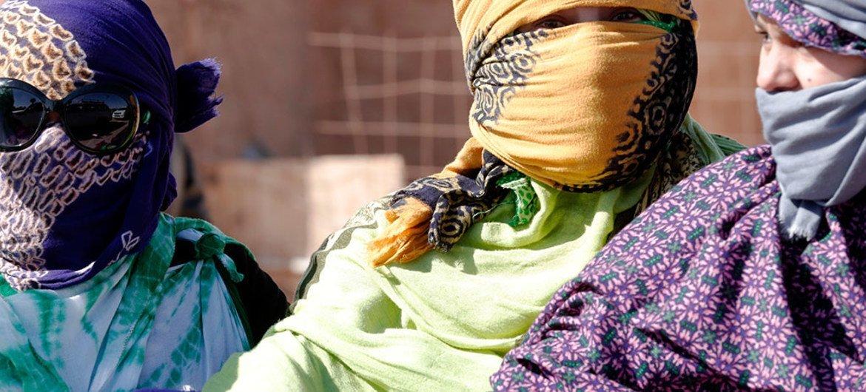 阿尔及利亚一处难民营中的撒哈拉难民。