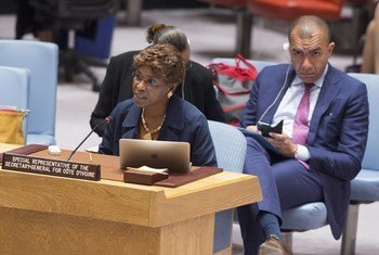 Aïchatou Mindaoudou Souleymane, Special Representative of the Secretary-General and Head of the United Nations Operation in Côte d'Ivoire (UNOCI), briefs the Security Council.