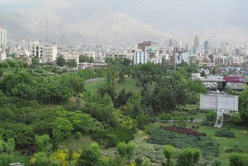 View of Nowruz Garden Park, Tehran, Iran.