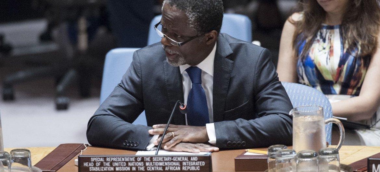 Le Représentant spécial du Secrétaire général pour la République centrafricaine, Parfait Onanga-Anyanga, devant le Conseil de sécurité (archives).