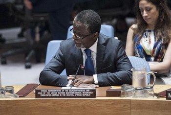 Parfait Onanga-Anyanga, chefe da Minusca, fala no Conselho de Segurança.