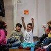 أطفال في أحد مراكز اللاجئين في أثينا (الأرشيف)