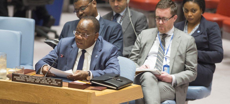 Le Représentant spécial du Secrétaire général pour l'Afrique centrale, François Louncény Fall, s'adresse au Conseil de sécurité (archives)