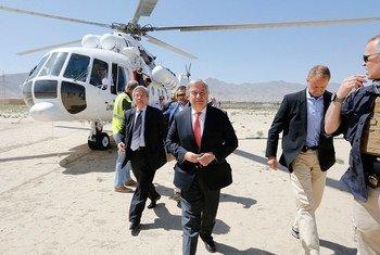 古特雷斯秘书长抵达喀布尔访问。联伊援助团图片/Fardin Waezi