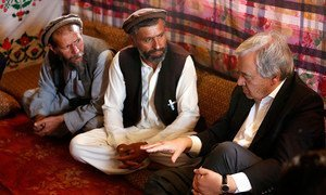 Secretary-General António Guterres is visiting Afghanistan to show solidarity with the Afghan people.