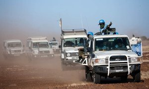 Members of the UNAMID contingent posted in Um Baro (North Darfur) go on patrol to Basma, village located 22 kilometers north.