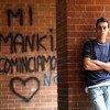 En Italie, un adolescent dans une banlieue pauvre de la ville de Turin, dans la région du Piémont.