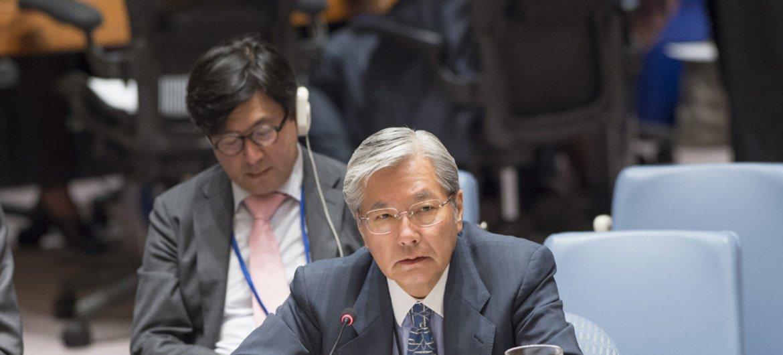 Le Représentant spécial du Secrétaire général pour l'Afghanistan, Tadamichi Yamamoto, en juin 2017. Photo ONU/Eskinder Debebe