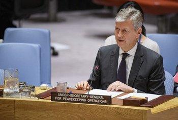 Jean-Pierre Lacroix, secretario general adjunto de la ONU para Operaciones de Mantenimiento de la Paz, en el Consejo de Seguridad. Foto de archivo: ONU/Manuel Elías