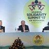 """古特雷斯秘书长在乌干达参加""""声援难民峰会""""。"""