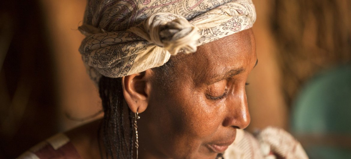 Aisatou Reourey, 52, runs a restaurant in the Ngam refugee camp. Her husband and 9 of her 14 children were killed during the conflict in Central African Republic.