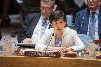 La Haute-Représentante pour les affaires de désarmement, Izumi Nakamitsu, devant le Conseil de sécurité (archives).