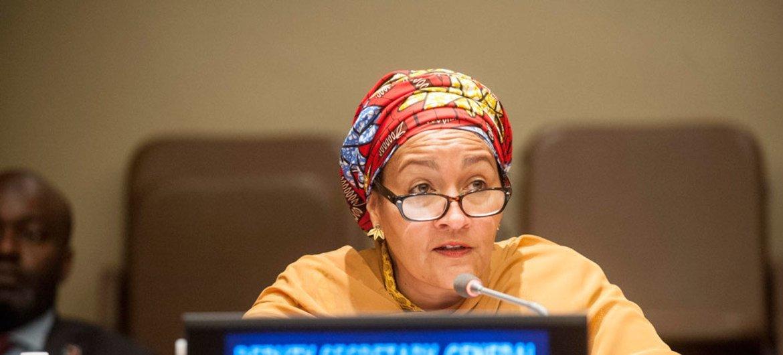 La vicesecretaria general de la ONU, Amina Mohammed. Foto archivo ONU: Kim Haughton