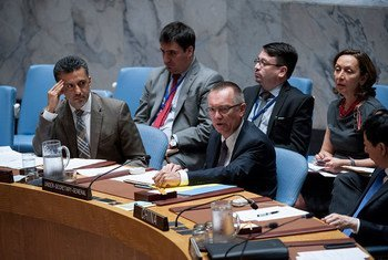 Jeffrey Feltman, Under-Secretary-General for Political Affairs, briefs the Security Council on the Joint Comprehensive Plan of Action.