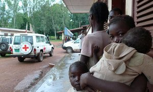 Children in Kaga Bandoro, Central African Republic. The town has been wrecked by persistent violence, leaving many in need of humanitarian assistance. (File)