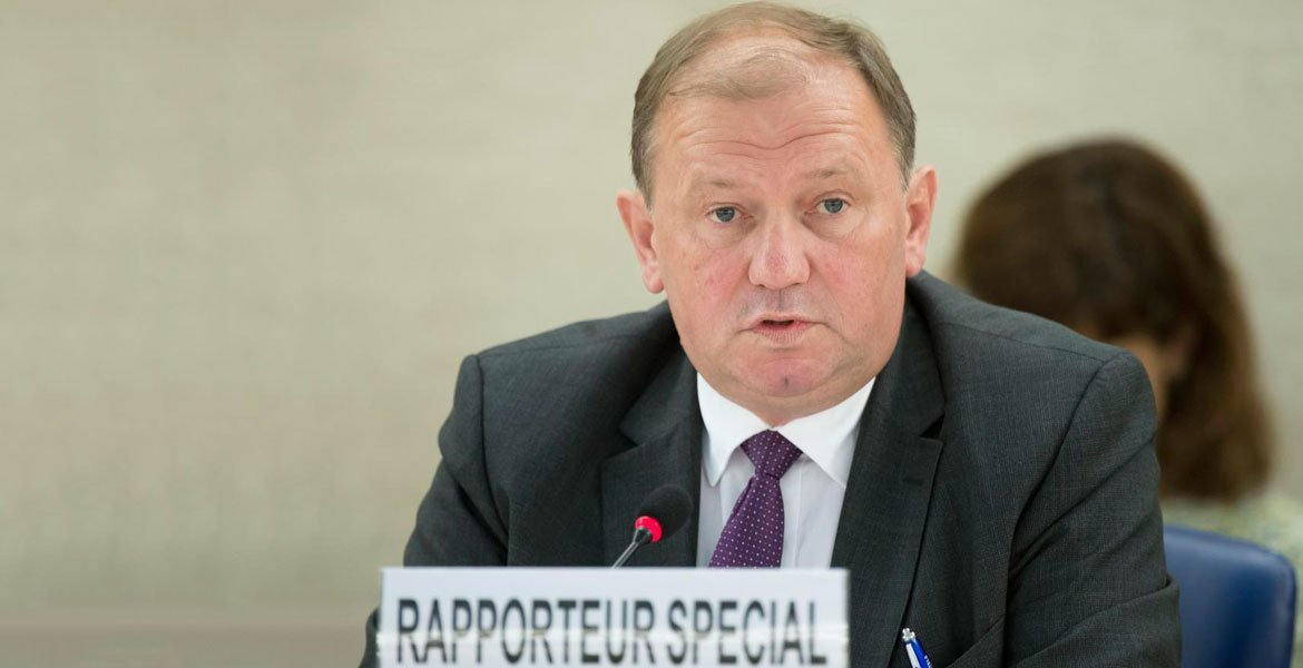 Dainius Pūras, Special Rapporteur on the right to health, pictured during the 35th Session of the Human Rights Council in June 2017.