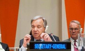 Le Secrétaire général de l'ONU, António Guterres, présente au Conseil économique et social (ECOSOC) son rapport intitulé « repositionnement du système des Nations Unies au service de la coopération internationale pour le développement ».