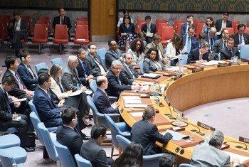 Assistant Secretary-General for Political Affairs Miroslav Jenca briefs the Security Council.