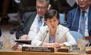 Izumi Nakamitsu, UN High Representative for Disarmament Affairs, addresses the Security Council debate on non-proliferation of weapons of mass destruction.