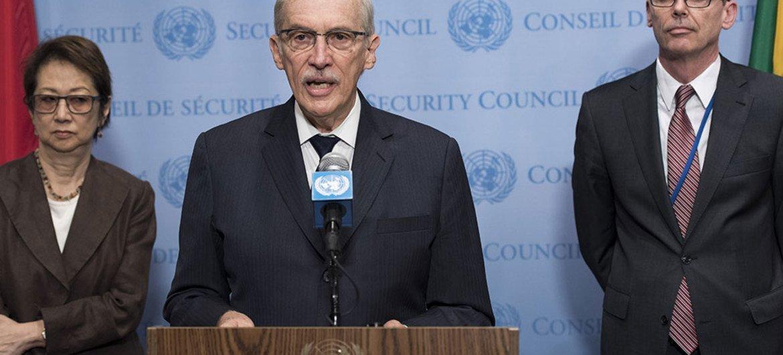 Edmond Mulet, jefe del Mecanismo Investigador sobre el uso de armas químicas en Siria. Foto ONU/Mark Garten