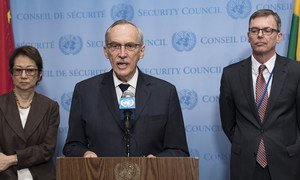 Edmond Mulet, chef du Mécanisme d'enquête conjoint de l'ONU et de l'OIAC sur l'utilisation d'armes chimiques en Syrie (archives).