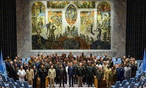 Around 100 countries send their Heads of armed forces to UN Headquarters to discuss strengthening of UN peacekeeping.