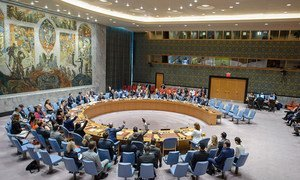 UN Security Council establishes second mission for Colombia Peace Process.  View of the Chamber during the vote.