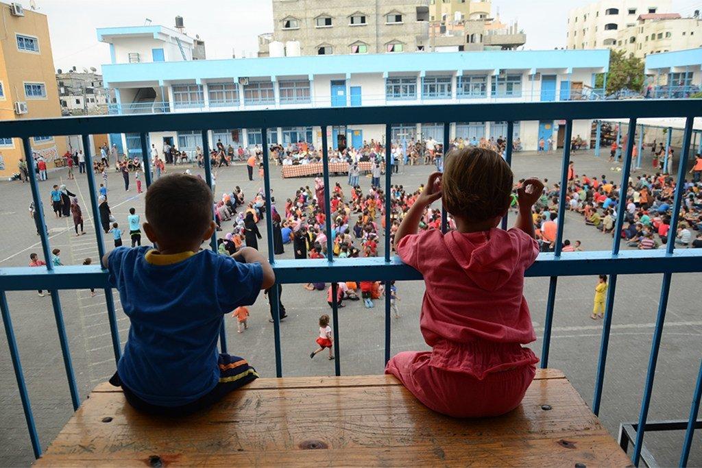 加沙地带的巴勒斯坦儿童是联合国近东难民救济工程处的援助对象之一。 近东救济工程处图片/ Fadi Thabet