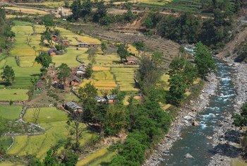 A mountain village in Bajhang district, Nepal.