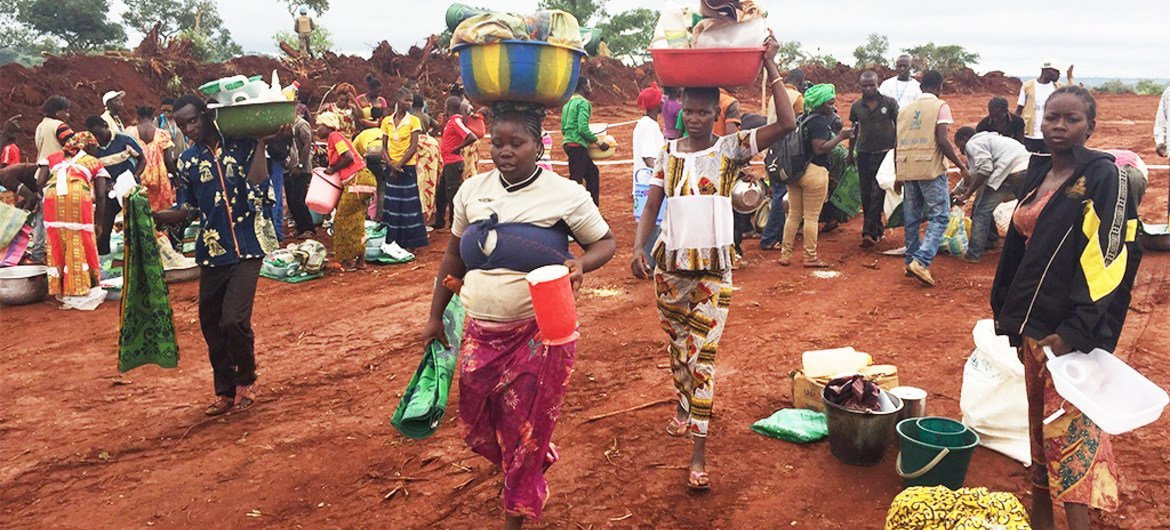 Humanitarian support reaches the town of Bria, the capital of Haute-Kotto prefecture in the Central African Republic.