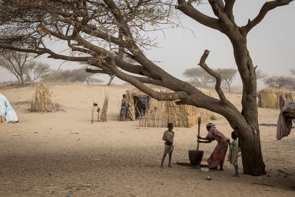 Des personnes déplacées au Tchad.