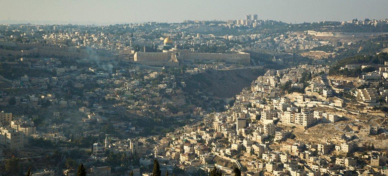 Vista aérea de Jerusalén. Foto: ONU/Rick Bajornas