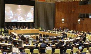 Le Secrétaire général adjoint chargé de l'appui aux missions, Atul Khare informe les États membres de l'ONU.