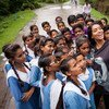 On 14 July 2017, Lilly Singh met with a children's group, Bal Commando, supporting the sanitation movement in a village close to the city of Harda in Madhya Pradesh State, India. UNICEF supported the rural parts of the district to become open defecation free. Photo/UNICEF/UN071747/Brown