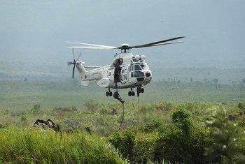 联合国驻刚果稳定团在进行军事训练。联刚稳定团图片
