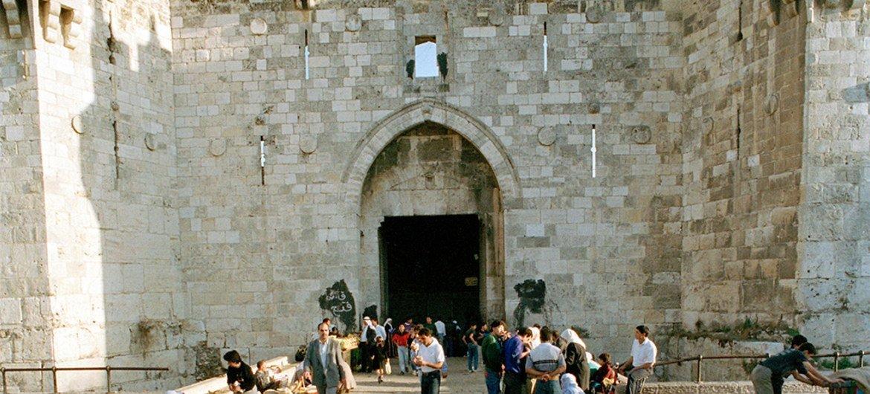 O Portão de Damasco, uma das principais entradas da Cidade Velha de Jerusalém