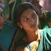 印度妇女社区会议。