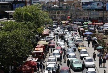 Una calle de Kabul, capital de Afganistán.