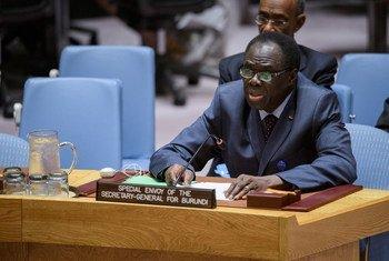 Michel Kafando, Envoyé spécial du Secrétaire général de l'ONU pour le Burundi, s'adresse au Conseil de sécurité. (juillet 2017)