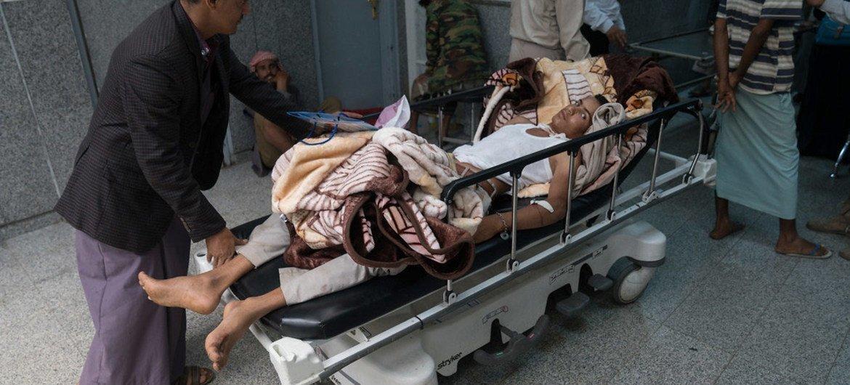ارتفاع عدد المصابين بالكوليرا في اليمن. الصورة:  Giles Clarke UNOCHA
