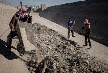 Les agriculteurs locaux d'Erbil et des zones rurales de l'Iraq pourront reprendre les activités agricoles avec des installations d'irrigation et d'autres infrastructures réhabilitées .