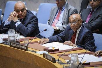 Taye-Brook Zerihoun, Sous Secrétaire général aux affaires politiques, devant le Conseil de sécurité (archives).