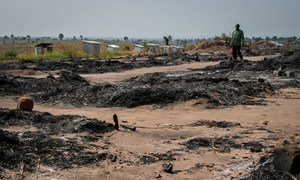 A former site for internally displaced persons (IDPs) near Kalemie, Democratic Republic of the Congo (DRC) was burned down when it was attacked by a militia group in early July.