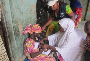 世界卫生组织在博尔诺州进行疟疾免疫接种。世界卫生组织/L. Ozor