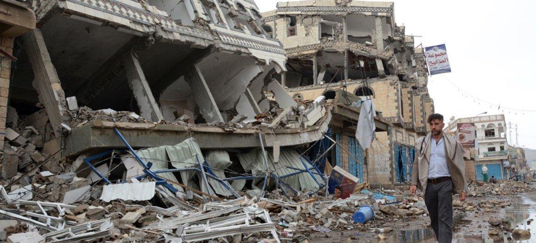 La ciudad de Saada fue duramente golpeada por ataques aéreos durante el conflicto en Yemen.